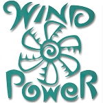 V005 - Wind Power Vinyl Cutout Window Sticker