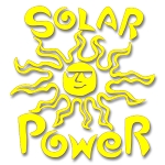 V006 - Solar Power Vinyl Cutout Window Sticker