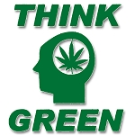 V014 - Think Green Vinyl Cutout Window Sticker