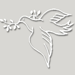 V034 - Peace Dove Olive Branch Vinyl Cutout Window Sticker