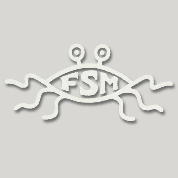 Flying Spaghetti Monster Vinyl Cutout Window Sticker