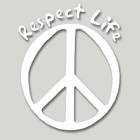 V048 - Respect Life Vinyl Cutout Window Sticker