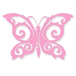 V051 - Tribal Butterfly Vinyl Cutout Window Sticker