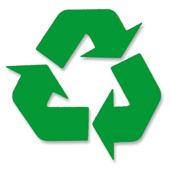 Green Recycle Symbol Green Vinyl Cutout Window Sticker
