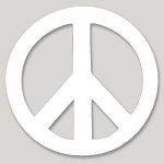 VS001 Peace Symbol Small Vinyl Cutout Window Sticker Decal