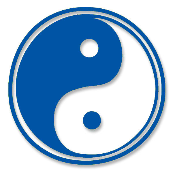 Yin Yang Taoism Symbol Of Balanceharmony Large Vinyl Cutout Window