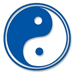 VL006 - Yin Yang Taoism Symbol of Balance/Harmony Large Vinyl Cutout Window Sticker