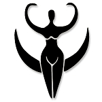 VS007 - Pagan Moon Goddess Small Vinyl Cutout Window Sticker