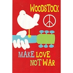 VW15 - Woodstock: Make Love Postcard