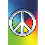 VW21 - Peace Symbol Rainbow Postcard