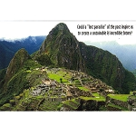 VW23 - Machu Picchu: Sustainable Postcard