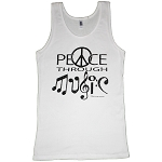 WTK002 - Peace Through Music Womens Tank Top