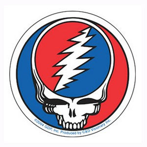 "A115 Classic Steal Your Face Grateful Dead Deadhead SYF Art Decal Clear 5"" Window Sticker"