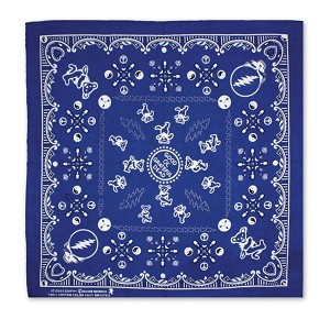 BD007 Good Ol' Grateful Dead Neck Scarf Headband Face Mask 22 x 22 Inch Tapestry Bandanna