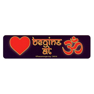 CM058 - Love begins in the OM Color Mini Sticker