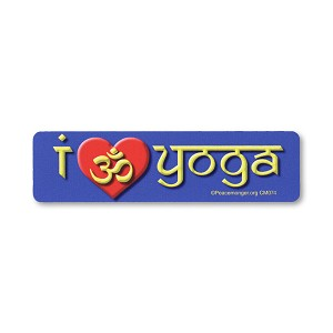 CM074 - I Love Yoga - Om Heart Color Mini Sticker