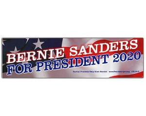 CS155-B - Bernie Sanders for President 2020 Color Sticker