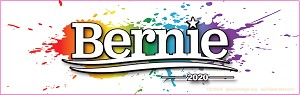 CS155-K - Bernie Sanders for President 2020 Rainbow Color Bumper Sticker