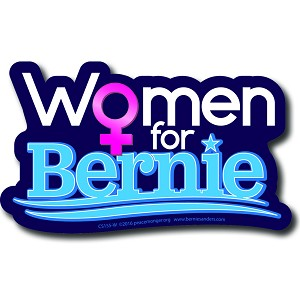 CS155-W - Women for Bernie Color Sticker