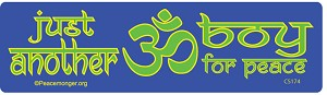 XS001 - Just another OM boy for PEACE Micro Sticker