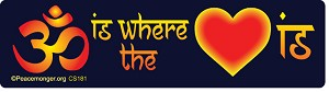 CS181 - OM is where the HEART is Color Sticker
