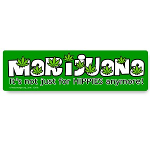 CS192 - MARIJUANA: It's not just for HIPPIES anymore! Color Sticker