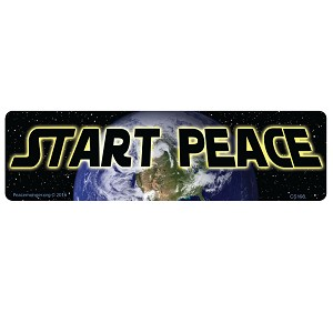 CS198 Start Peace Star Wars Quote Parody Color Sticker