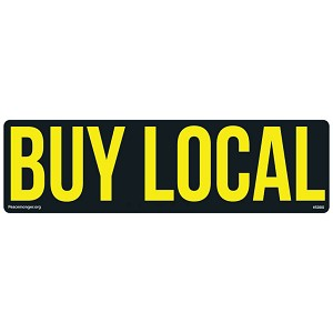 CS207-MAG BUY LOCAL Color Lg Bumper Sticker & Local Businesses Made in USA