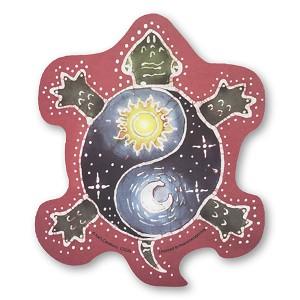Cs236 Yin Yang Sun And Moon Tribal Turtle Color Sticker