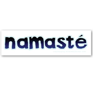 CS250 -MAG Namaste Ancient Sanskrit Greeting Nepal Color Sticker MAGNET