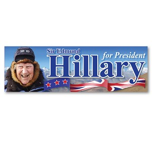 CS252 - Sir Edmund Hillary for President Color Sticker