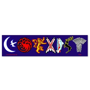 CS260 - Coexist Game of Thrones Sigil Parody Color Sticker