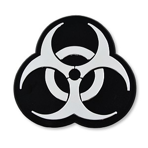 F22 - Biohazard 3D Chrome Auto or Truck Emblem