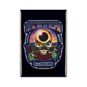 FMEC018 - Eclipse Your Face Grateful Dead Total Solar Eclipse 2017 Fridge Magnet - Illinois