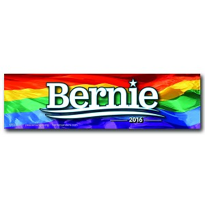MS155-L - Bernie Sanders 2016 Rainbow Color Mini Sticker
