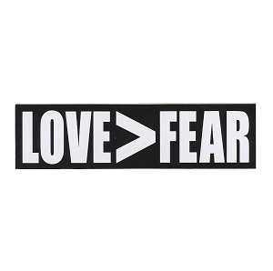 MS066 - Love>Fear Mini Sticker