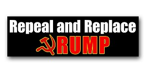 CM288 - Repeal and Replace - Anti Trump Color MINI Sticker