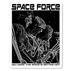 S696 Space Force Parody Grateful Dead Jerry Garcia Phil Lesh Bob Weir Decal Sticker with Collectible Limited Signed and Numbered Release