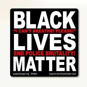S698A Black Lives Matter I Cant Breathe End Police Brutality BLM Anti Racism Protest Sign Sticker