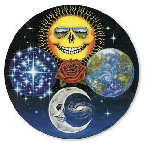 A016 Limited Edition Jerry's Jaspar Grateful Sun Moon Earth and Stars Dead Zodiac Art Decal