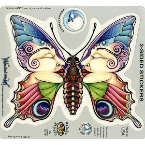 A043 - Fairy Moth Art Decal Window Sticker