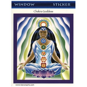 A084 - Chakra Goddess Lotus Earth Mother Art Decal Window Sticker