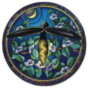 A143 - Kemmerling Stained Glass Firefly Art Decal Window Sticker