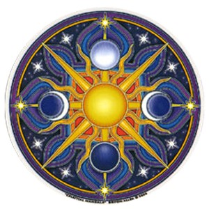 A178 - Celestial Mandala Art Decal Window Sticker