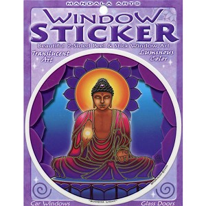 A181 - Buddha Light Art Decal Window Sticker
