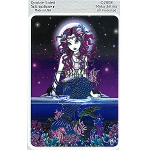 A202 - Mermaid Ocean Coral Goddess Window Decal Sticker - Uxia