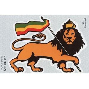 A266 - Rasta Lion Art Decal Window Sticker