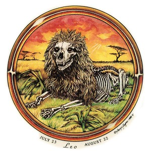 A280 - Leo Grateful Dead Art Decal Window Sticker
