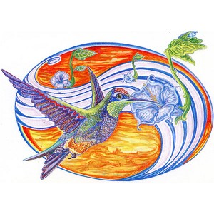 A289 - Hummingbird Art Decal