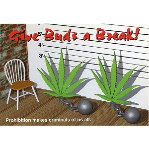 A316 - Give Buds a Break Art Decal